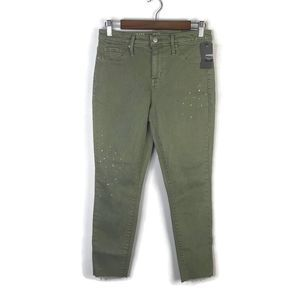 NWT Mossimo High Rise Jegging Crop Green | 6